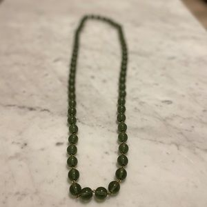 Banana Republic Green Beaded Necklace